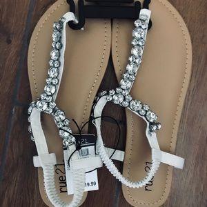 Glitzy new rhinestone sandals